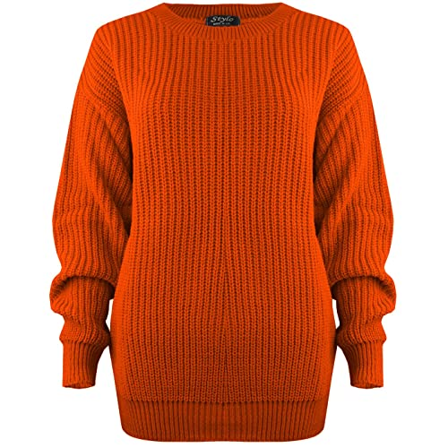 f39b1840618c SA Fashions Oversized Ladies Womens Chunky Baggy Jumper Knitted Sweater  Thick Top S-XL 8