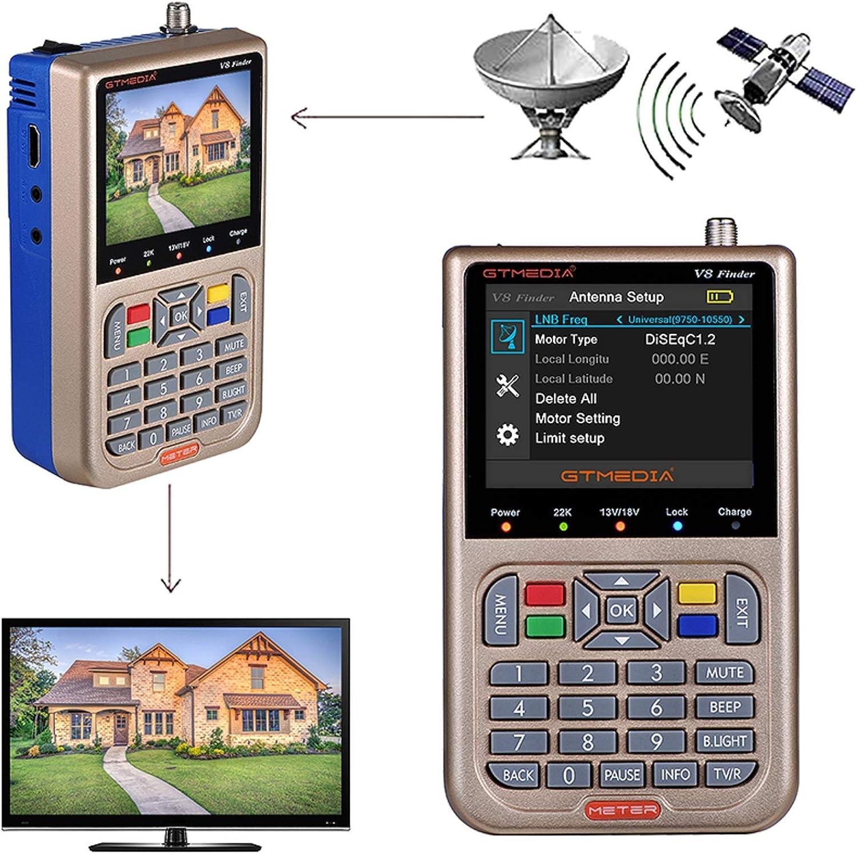GT MEDIA V8 Satellite Finder Meter TV DVB-S Receiv Great interest Max 78% OFF S2 S2X Signal