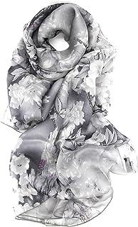 シルク 100% 大判 スカーフ ストール 【選べるサイズ カラーバリエーション】 ドット 花柄 水玉 鳥 絹 UV 防寒 シフォン 天然素材 [Instyle Japan]