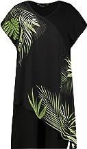 Ulla Popken Ulla Popken, Damen, Große Größen, Jerseykleid, überschnittene Schulter mit asymmetrischem Chif dames jurk