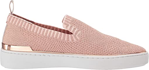 Rose Gold Metallic Knit/Metallic Nappa