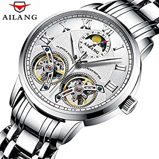 WhatsWatch AILANG Skeleton Double Tourbillon Fashion Luxury Brand Men Tourbillon Automatic Mechanical Watch Men Sports Waterproof