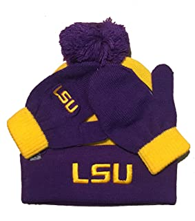 Top of World Lil Dew Toddler Beanie Hat and Mitten Combo - NCAA Infant Cuffed Winter Gift Set Cap/Gloves
