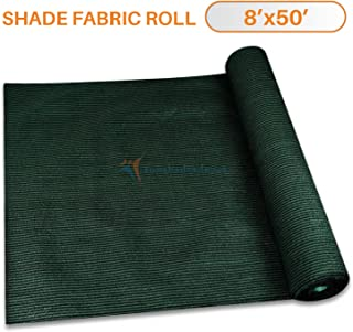 TANG Sunshades Depot 8'x50' Shade Cloth 180 GSM HDPE Dark Green Fabric Roll Up to 95% Blockage UV Resistant Mesh Net for Outdoor Backyard Garden Plant Barn Greenhouse