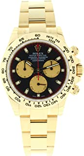 Rolex Mens Unused 116508 18k Yellow Gold Daytona Cosmograph Paul Newman Black and Champagne