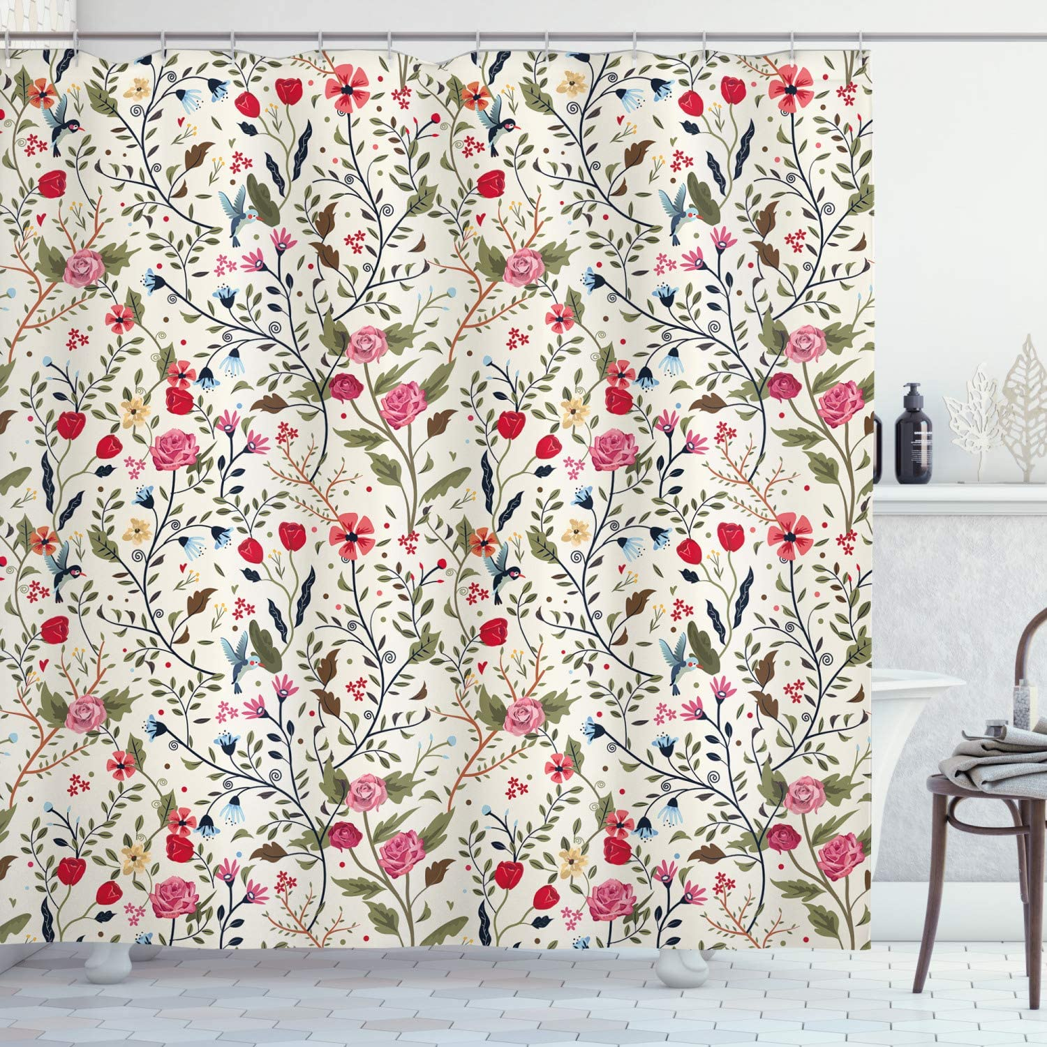 Ambesonne Floral Houston Mall Shower Curtain Vibrant Minneapolis Mall Image Colored Complex B