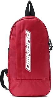 Black Pyramid Tear Drop Cross Body Bag, Red, One Size