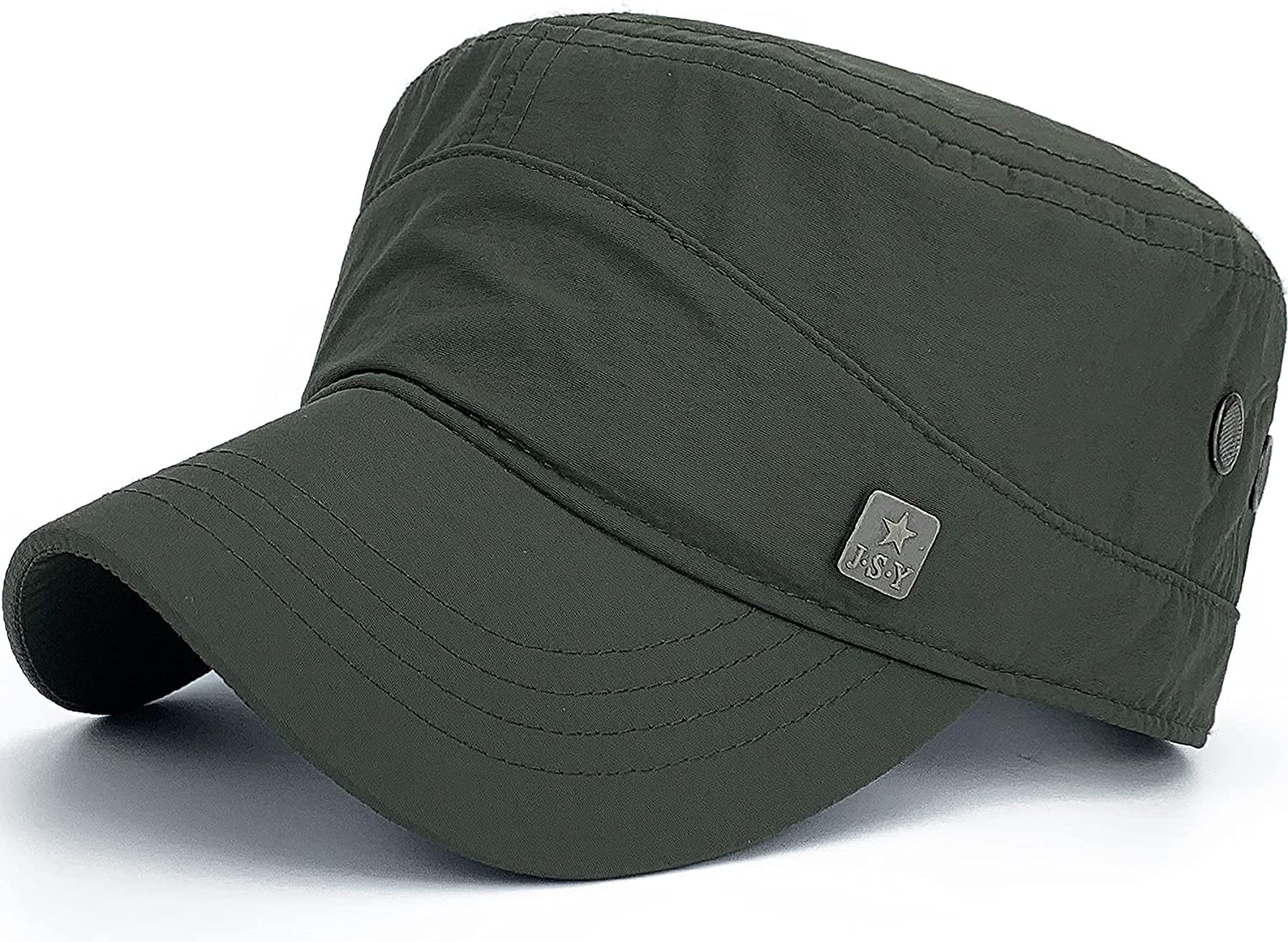 Rayna Fashion Quick Charlotte Mall Dry Max 50% OFF Cadet Waterproof Flat Army Hats Military