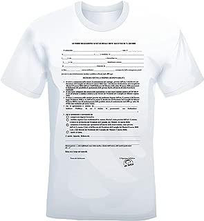 Maglietta 100/% Cotone Maglia Sicurezza T-Shirt con Stampa Security su Fronte e Retro