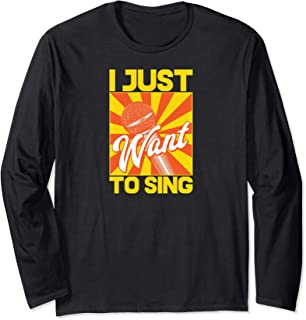 ROCKSTAR Music Collection - I Just Want To Sing - Microphone Long Sleeve T-Shirt
