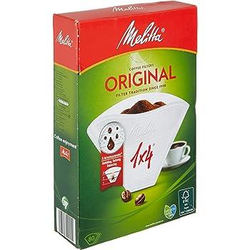 Melitta 6658090 1 caja de 80 Filtros de Café Desechables, Blanco