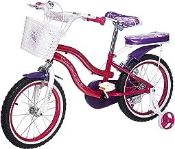 Upten Girl Flower Mechanical Rim Bicycle - Purple, 16 Inch
