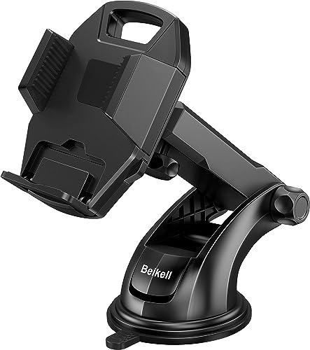 Beikell Support Téléphone Voiture, Support Voiture Auto Universel Ventouse Réglable Support et Un Bouton de libératio...