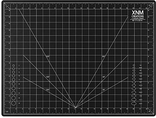 XNM Creations Premium Self Healing Cutting Mat - 18 Inches by 24 inches - A2, 3 Layer Quality PVC Construction - Dual...