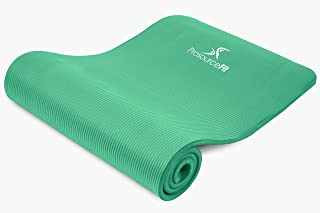 Prosource Premium 1/2-Inch Extra Thick 71-Inch Long High Density Exercise Yoga Mat with Comfort Foam and Carrying Straps, Frustration-Free Packaging