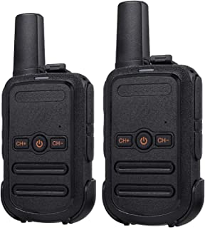 Proster Rechargeable Walkie Talkie FRS Wireless 16 Channel Lock Vox Handsfree Ski Walky Talky Two Way Radio with USB Charger for Kids Adults (2 Pack)
