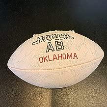 1985 Oklahoma Sooners Troy Aikman Pre Rookie Team Signed Football 80 Sigs! JSA