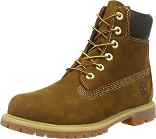 Timberland 6inch Premium Rust Leather Womens Boots Size 4.5 UK