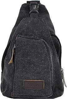 AIKE Men Canvas Shoulder Casual Bag Sling Chest Bag Traveling Bag