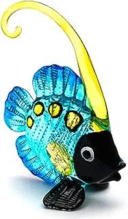 Zoo Craft Hand Blown Glass Figurine Beautiful Angel Fish Handmade Miniature Animal Art