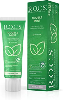 Sponsored Ad - R.O.C.S. Double Mint Toothpaste - Mineral in Complex Formula with Calcium, Bromelain and Xylitol - Best for...