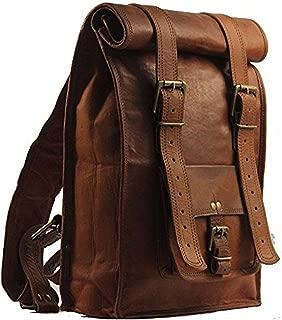 Habiller Unisex Handmade Genuine Leather Vintage Brown Laptop Backpack