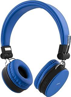 STREETZ HL-422 justerbart pannband över örat hopfällbara hörlurar – blå