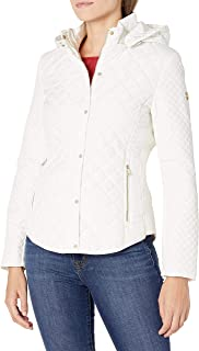 Women's Quilted Jacket with Removable Hood