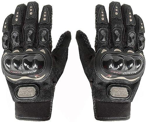 Probiker Full Racing Biking Driving Motorcycle Gloves (Black, XL)