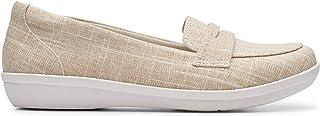 Clarks Flat Shoe for Women, Size 7 UK, Beige