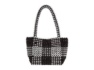 Loeffler Randall Mina Beaded Tote (Black/Silver) Tote Handbags