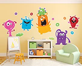 BirthdayExpress Aliens and Monsters Room Decor - Giant Wall Decals