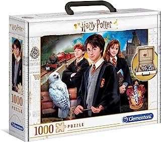 Clementoni Harry Potter Puzzle-Valisette-1000 pièces-Puzzle Adulte-fabriqué en Italie, 61882, Multicolore