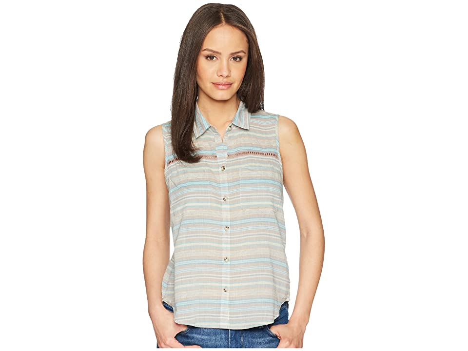 Toad&Co Airbrush Sleeveless Deco Shirt (Cocoa Stripe) Women