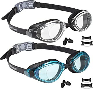 EVERSPORT Swim Goggles, Pack of 2, Swimming Glasses for Adult Men Women Youth Teens, Anti-Fog, UV Protection, Shatter-Proof, Watertight