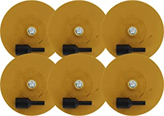 ABN Rubber Eraser Wheel 4in Pad & Adapter 6-Pack – Pinstripe, Adhesive Remover, Vinyl Decal, Graphics Removal Tool