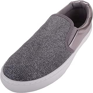 Absolute Footwear Womens Slip On Glitter Skater Pumps/Shoes/Trainers/Plimsolls