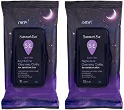 Summer's Eve Lavender Night-Time Cleansing Cloth Sensitive Skin, 32 Ct - Pack of 2