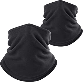 WTACTFUL Polar Fleece Neck Warmer Protective for Chilly Winter (2 Pack / 1 Pack)