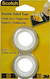 Scotch Lot de 2 rouleaux de ruban adhésif double face 12 mm x 6,3 m (Import Allemagne)