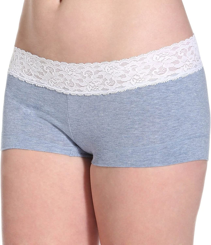 Maidenform Womens Dream Cotton with Lace Boyshort