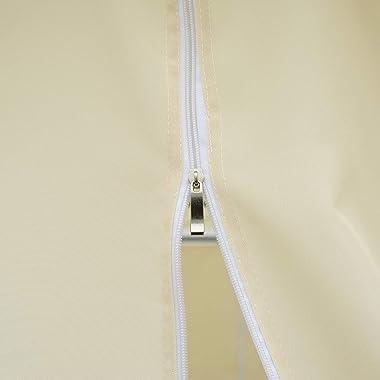 Outsunny 10' x 13' Outdoor Soft Top Pergola Gazebo with Curtains, 2-Tier Steel Frame Gazebo for Patio, Cream White