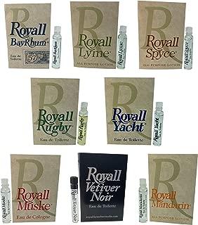 Royall Aftershave Lotion Cologne for Men (8 pack Sampler)