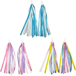 XINGZI 1Pair 19cm//7.5inch Dazzle Tassels Children Bicycle Handlebar Streamers Scooter Fringe Bike Baby Carrier Handle Deocration Accessories for Kids Cycling Lovers