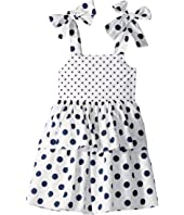 Oscar de la Renta Childrenswear - Polka Dot Day Dress (Toddler/Little Kids/Big Kids)