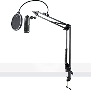 Audio-Technica AT2020USB+ Condenser USB Microphone w/Knox Pop Filter & Boom Arm