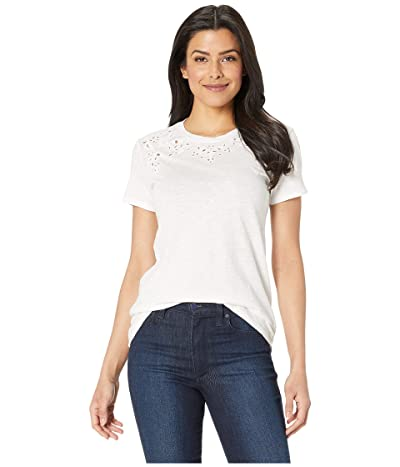 Lucky Brand Embroidered Tee (Lucky White) Women