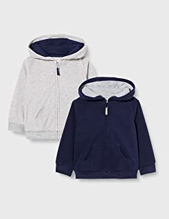 Baby Boys' 2-Pack Fleece Full Zip Hoodies