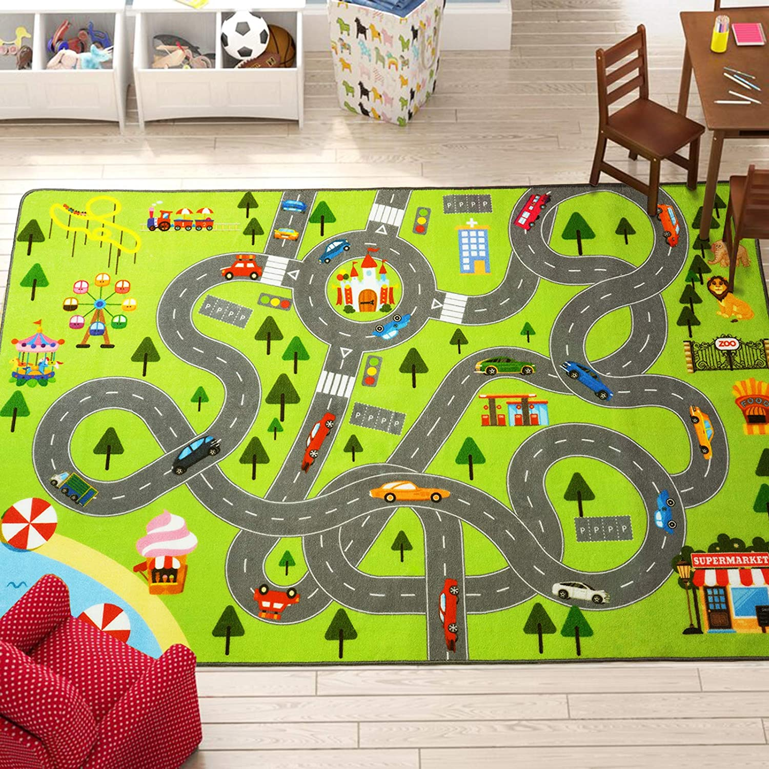 HOMORE Kids Play Mat Rug City and Very popular! Fun for Educational Boston Mall