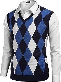 Mens V-Neck Casual Slim Fit Golf Knit Vest Sleeveless Sweater Pullover